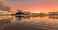 St Michaels Mount sunset (Andy Fox Photography) Tags: uk sunset sea england sky seascape reflection castle history tourism church saint rock architecture island coast sand rocks cornwall cathedral gothic landmark tourist medieval historic historical coastline process fortress stmichaelsmount touristic marazion