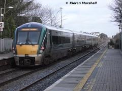 22039 departs Portlaoise, 17/1/14 (hurricanemk1c) Tags: irish train rail railway trains railways irishrail rok rotem 2014 portlaoise 22039 icr iarnród 22000 éireann iarnródéireann premierclass 5pce 1420portlaoiseheuston
