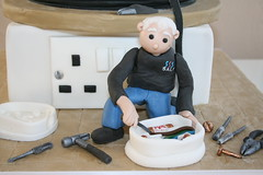 Electricians cake (Cake Ali) Tags: cake open drum cable tools plug electricians