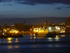 Northlink Ferries MV Hjaltland arriving in Aberdeen Harbour in the evening after delayed sailing due to bad weather (iainh124a) Tags: uk ferry lumix scotland orkney panasonic aberdeen shetland northlink tz30 zs20 iainh124a dmctz30 dmczs20