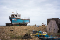 Pinhole View - Dungeness (25) (Malcolm Bull) Tags: camera beach boat kent fishing pin hole dungeness include rx303 20140223dungerness0025edited1web