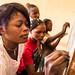 Cours d'alphabétisation au CAP de Mongbwalu