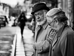Nice Beard :) (Thomas Rombauts) Tags: world street portrait people blackandwhite bw white black france hat square beard photography nikon couple noiretblanc thomas elderly versailles squareformat iledefrance rombauts