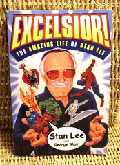 Excelsior!  The Amazing Life of Stan Lee (Vernon Barford School Library) Tags: vernon barford library libraries new recent book books read reading reads junior high middle school vernonbarford nonfiction 9780684873053 excelsior stan lee stanlee george mair biography autobiography comic comics comicstrip comicstrips comicbooks comicbook marvel cartoonists artist artists bookcover bookcovers cover covers