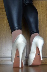 3 (read my Profile before anything!!!!!) Tags: high buffalo highheels plateau heels satin leggings