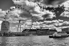 Thames and London Eye (Photos By Clark) Tags: england london europe unitedkingdom canon20d places location where photoframe locale canon1740