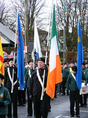 AOH National Procession in honour of St. Patrick in Cookstown on 17th March 2014 (seanfderry-studenna) Tags: county street ireland people irish colour male men green public saint st festival female march ancient women day catholic order candid north patrick eire parade na bands uniforms fags procession patricks banners nationalist northern ord arsa aoh tyrone hibs hibernians cookstown heireann