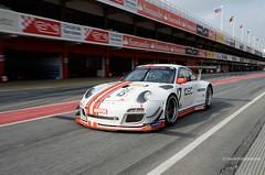 17 Porsche 911 GT3-R . V de V Barcelona 2014 . 4338je (antarc foto) Tags: porsche 911 gt3r ruffier racing lafargue patrice fra paul endurance gt tourisme free practice sessions 2014 v de series circuit barcelona catalunya montmeló catalonia motor motorsport races race catalogne barcelone competition vdev