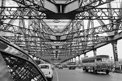 Howrah Bridge (aqua.rajiv) Tags: old bridge iron traffic steel kolkata howrah hooghly