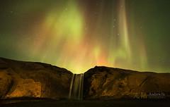 aurora over skogafoss waterfalls (awhyu) Tags: iceland aurora skogafoss andrewyuphotography