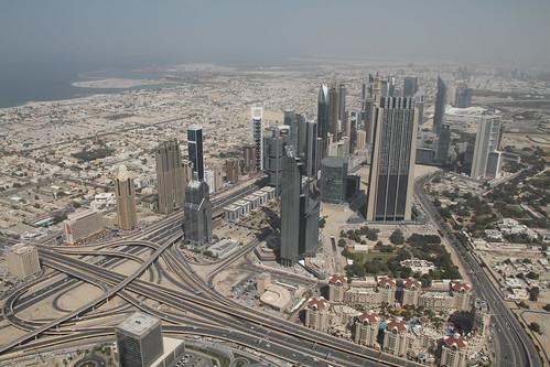 Aussicht vom Burj Khalifa in Richtung Altstadt