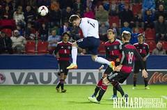 Dean Rittenberg Scores (Richard Greenfield Photography) Tags: england germany football goal team jump stadium under header rotherham 18s rival