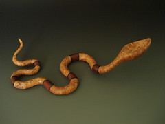 Banded Snake (SPOONTANEOUS) Tags: art sculpture craft woodcraft woodcarving woodwork spoon spoons carved wood wooden handcarved woodworking whimsical spoontaneous figurative