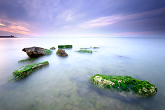 Dawn on the sea II (J MORA) Tags: naturaleza color mar agua mediterraneo paisaje amanecer rocas benicarl d90 playadelmorrongo