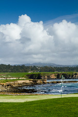 18th Hole, Pebble Beach (tylermielnichuk) Tags: ocean california usa green grass clouds canon golf 18th legendary 7d di pebblebeach tamron vc f28 usd 2470mm