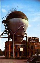 Westinghouse Reserch Laboratories East Pittsburgh PA (Edge and corner wear) Tags: vintage corporate pc postcard nuclear exhibit company research atomic accelerator apparatus