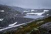 End of the Road (Serious Andrew Wright) Tags: norway rogaland lysebotn road power lines cloudy wet cold snow grey car dam weaving overcast rain landscape scenery