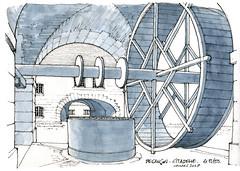 Besançon (gerard michel) Tags: france franchecomté besançon citadelle puits sketch croquis