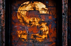 Rail Car Art Series No.5 (hutchphotography2020) Tags: railcarartseries rust letters corrosion chippedpaint abstract abstractrealism nikon hutchphotography fineartphotography