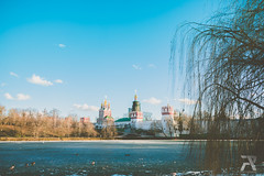Novodevichy Convent (Syuqor7) Tags: moscow russia nikon d7200 moskva lake frozen frozenlake convent evening