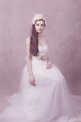 Athena (Michelle Hughes Walsh Photography) Tags: woman lady model beautiful portrait posing goodess garland tulle dress flower headpiece engaging editorial story book cover
