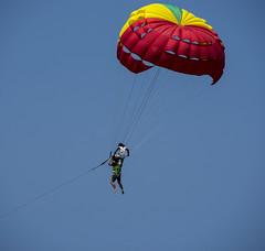 parachute ride (Phuket) (Greg Rohan) Tags: sky blue phuket patongbeach thailand ride parachute photography 2017 d7200