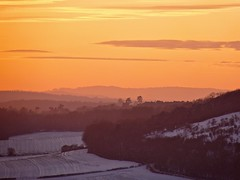 Winter Sunset (Deepgreen2009) Tags: snow winter surrey hills distance landscape glow haze cold west rural