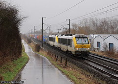 SNCB/NMBS 1343 & 1317 05.03.2017 (Trainspotting-Wiki) Tags: sncb nmbs 13 1343 1317 livange zeebrugge milano