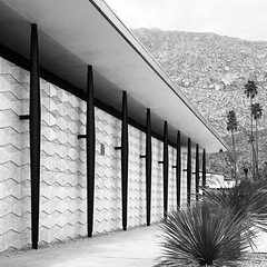Walking by the J.W. Robinson Department Store by Charles Luckman & William Pereira (1958), in Palm Springs... see you at 3pm at CAMP! (Chimay Bleue) Tags: instagramapp square squareformat iphoneography uploaded:by=instagram inkwell