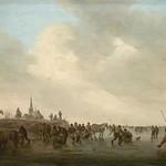 GOYEN (van) Jan,1646 - Patineurs sur le Merwede près de Dordrecht (Custodia) - Détail 01 thumbnail