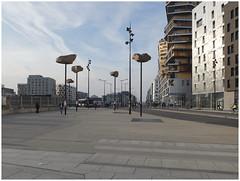 Skyrocks — Tribute to René Magritte (michelle@c) Tags: urban suburban architecture contemporan city cityscape building complex housing habitat space sculpture rocks magritte tribute lechâteaudespyrénées new district massena paris xiii 2017 michellecourteau