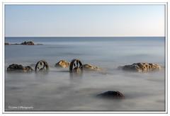 Wheels in color (Lynne J Photography) Tags: pier sunrise pastel long exposure beach rapeseed dusk sunset chemicalbeach seaham wheels sand steetley dawn colors rocks sidelight