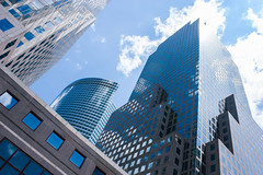 Glass in the sky (trumanders) Tags: approved new york city skyscrapers newyork buildings tall tallbuildings glass reflections blue sky bluesky manhattan