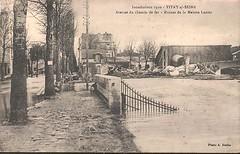 CPA-Vitry-sur-Seine-Inondations-1910-Avenue-du-chemin-de (gpmetropole) Tags: cpa vitry port à l anglais edf centrale electrique ardoines