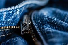 Undone! (PhilR1000) Tags: jeans zip zipper ykk macro