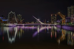 Classic view (karinavera) Tags: travel sonya7r2 urban fragata puentedelamujer puertomadero smoothapp reflection cityscape longexposure bridge city
