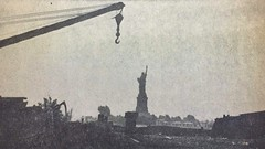 OK... the last bleak photo for a while. (they'll all contain puppies and kittens from now on). A scan of a Jersey Journal newspaper photo showing the Statue of Liberty from abandoned railroad land in the Communipaw yards. Jersey City. Aug 16, 1965 (wavz13) Tags: oldphotographs oldphotos 1960sphotographs 1960sphotos oldphotography 1960sphotography vintagesnapshots oldsnapshots vintagephotographs vintagephotos vintagephotography filmphotos filmphotography historicphotographs historicphotos historicphotography newyorkphotographs newyorkphotos oldnewyorkphotography oldnewyorkphotos vintagenewyork depressing bleak noir noire dark oldbuildings vintagebuildings abandonedbuildings jerseycityphotographs jerseycityphotos oldjerseycityphotography oldjerseycityphotos oldjerseycity vintagejerseycity vintagejerseycityphotography jerseycityhistory urbanphotography urbanphotos urbanscenes cityphotography newjerseyphotographs newjerseyphotos oldnewjersey vintagenewjersey newjerseyhistory industrialjerseycity industrialruins factoryruins industrialwasteland urbanwasteland urbandecay libertystatepark centralrailroadofnewjersey crrnj newyorkharbor hudsonriver