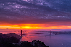 Morning Drama (davidyuweb) Tags: morning drama morningdrama sunrise colors sunrisecolors sfist luckysnapshot hawkhill san francisco sanfrancisco fog goldengatebridge