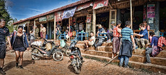 A stop off.....and starting point for people who were just doing a day trip walk.......wimps! (Neville Wootton Photography) Tags: burma holidays kalaw lightroom myanmar onestoptraveltours people restaurants topazlabs trekking