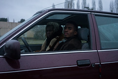Mackenzy & Gabriel (Sylvain Alcayna) Tags: portrait video clip playart sonya7 zeiss35mm color hiphop dance mackenzy gabriel sherkan cabadzi car ford escort burgundy