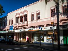 Pink building (Man+machine) Tags: napier newzealand artdeco