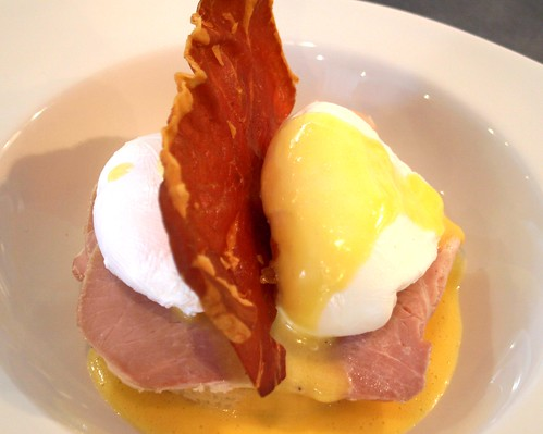 Eggs benedict cooked by Ben of Benedicts at the show