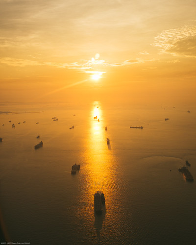 Sunrise over singapore