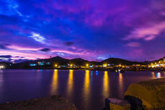 port after sunset (Carlos*P) Tags: china sunset nature night canon eos glow tokina 1116 fishport 60d