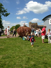 Woven Pumpkin at Floral fringe fair 2013 (Mark and Rebecca Ford Art Sculpture) Tags: