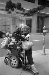 wheelchair bound (astroturtle) Tags: sanfrancisco california lomolca 150 fomapan100 kodakhc110 fomafomapan film:iso=100 developer:brand=kodak film:brand=foma film:name=fomafomapan100 developer:name=kodakhc110 epsonfilmscanv600 filmdev:recipe=8753