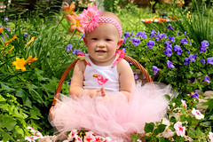 Maddison 1 Yr. (LadyDragonflyCC - >;<) Tags: baby flower cute girl kids female canon one child sweet precious t3i 600d 2013