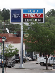 Nice relic! (twm1340) Tags: county arizona ford sign route66 mercury az flagstaff lincoln dealership babbitt dealer coconino 2013