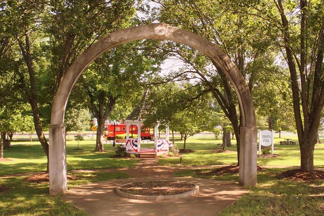 Scenes from Thomas Park: Concrete Arch - Huntingdon, TN