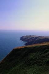 Got A Long Way To Go (Joey Scannell) Tags: ocean road blue light sea cliff house fog way landscape joseph haze mine path distance far scannell